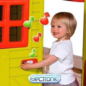 timbre electronico de casita infantil smoby 310300