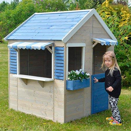 caseta infantil de madera para jardin wendi toys