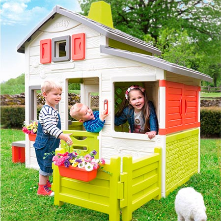 casita infantil de jardin para niños