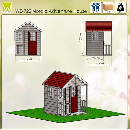plano de casita de madera wendi toys