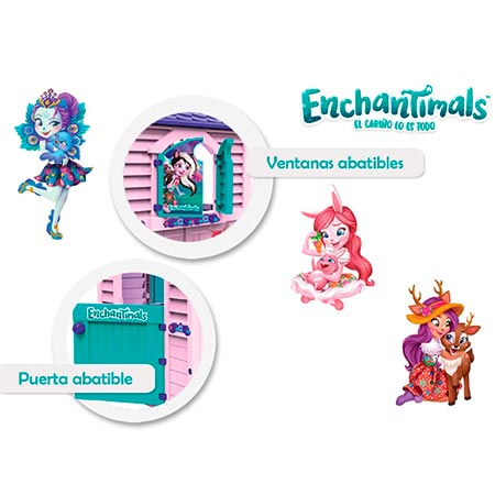 pegatinas casita infantil enchantimals de chico
