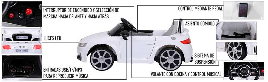 coche a bateria para niños homcom