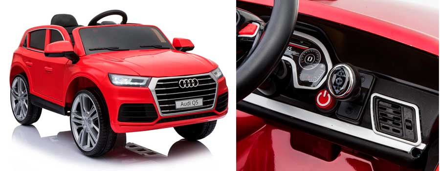 HOMCOM Coche Eléctrico para Niños Audi Q5 con Mando a Distancia