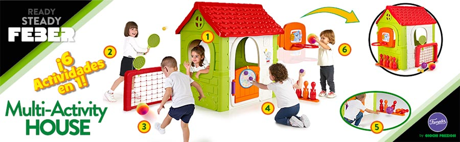 FEBER Activity House 6in1 Casa Infantil con Juegos