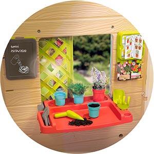 casita tematizada de jardin